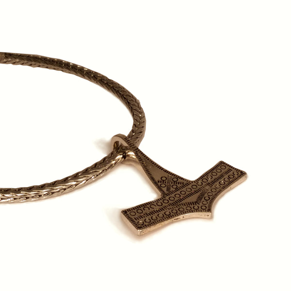 Viking Thor's Hammer Necklace Silver