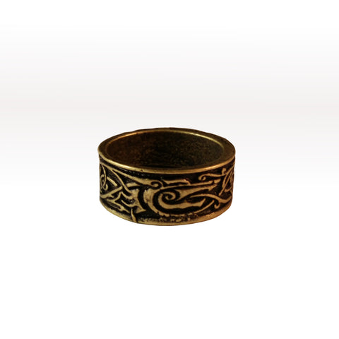 ring bronze wolf knotwork viking celtic