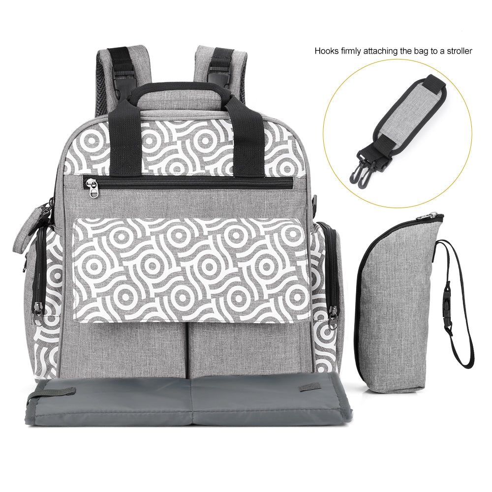 Diaper Bag Multifunction Backpack Separate Pockets