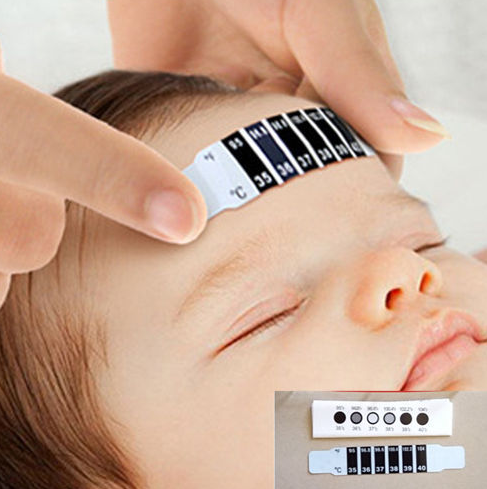 10 Pcs Forehead Head Strip Thermometer