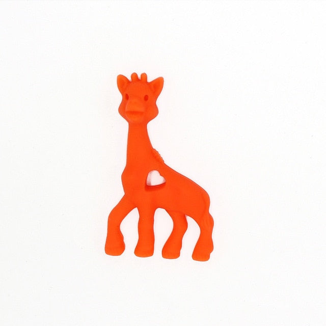 Giraffe Silicone Teethers Teething Baby Shower Gift Pendant DIY Pacifier Chian Clips Toy Food Grade Silicone