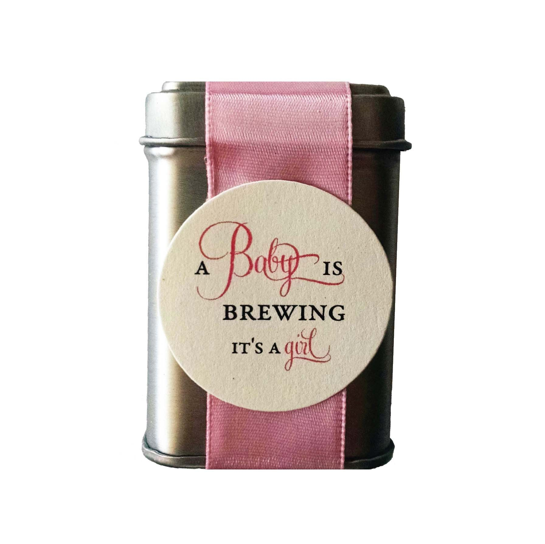 A Baby is Brewing Tea Tin Baby Shower Favors