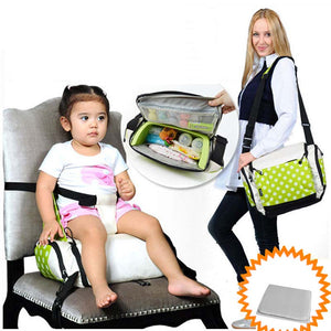 Port GoBoost Travel Booster Seat for on-the-go dining With A Free Diaper 4 Color For Available baby feed chair
