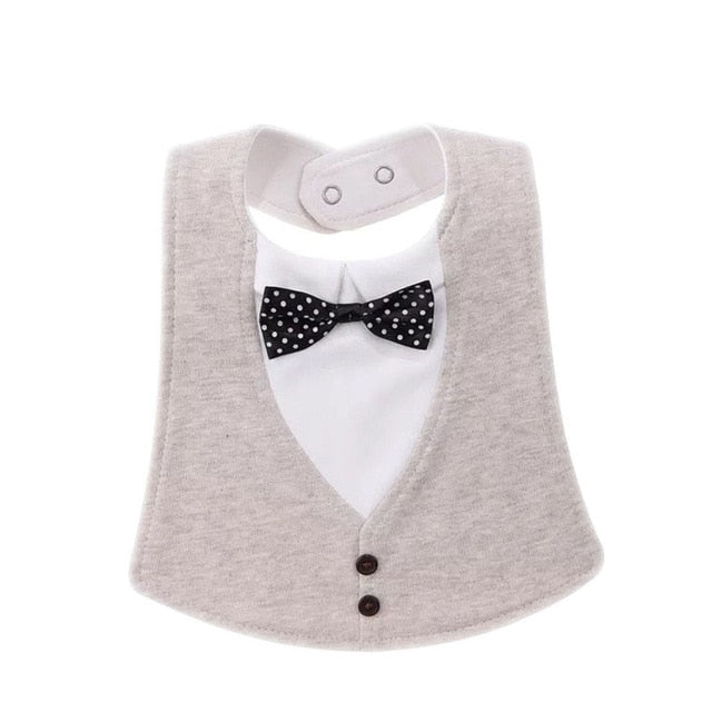 Little Man Vest and Bow Tie Baby Bib