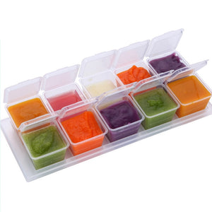 Baby Safety Food Containers Cup 10 Pcs
