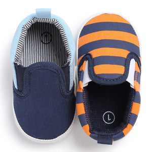 Baby Boys Fashion Canvas Striped Shoes