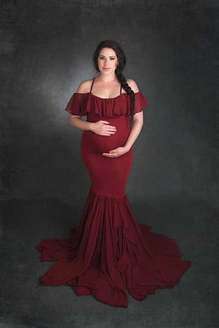 Mermaid Maternity Dresses For Photo Shoot Chiffon