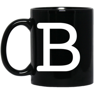 B simple 11 oz. Black Mug