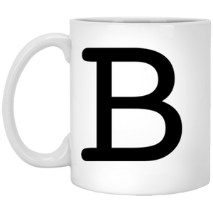 B simple 11 oz. White Mug