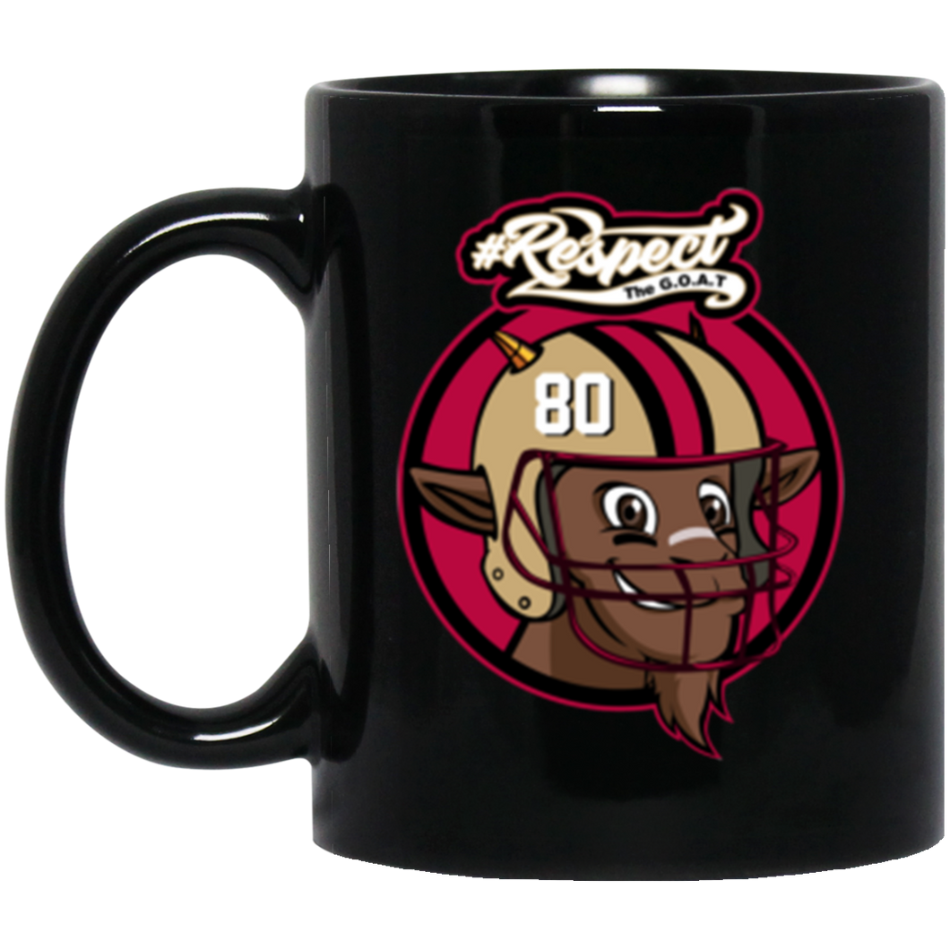 Rice GOAT 11 oz. Black Mug