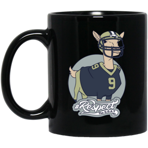 Brees GOAT 11 oz. Black Mug