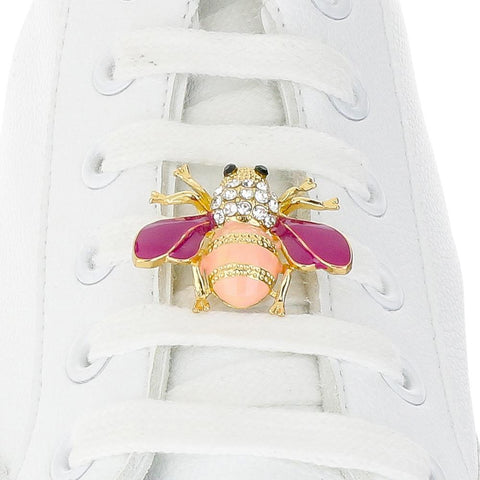 Bee Pink Shoelace Charm