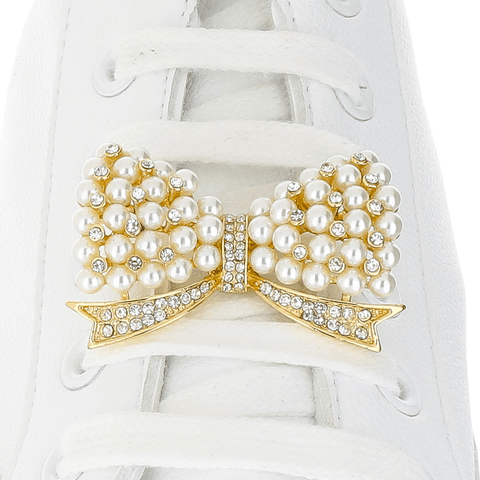 Large Pearly Bow Shoelace Charm