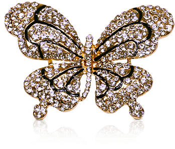 Large Sparkling Butterfly Shoelace Charm