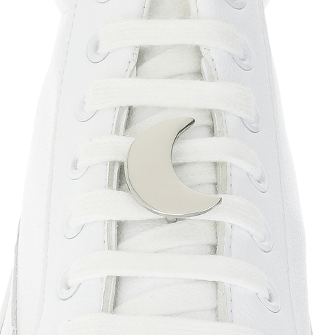 Silver Moon Shoelace Charm