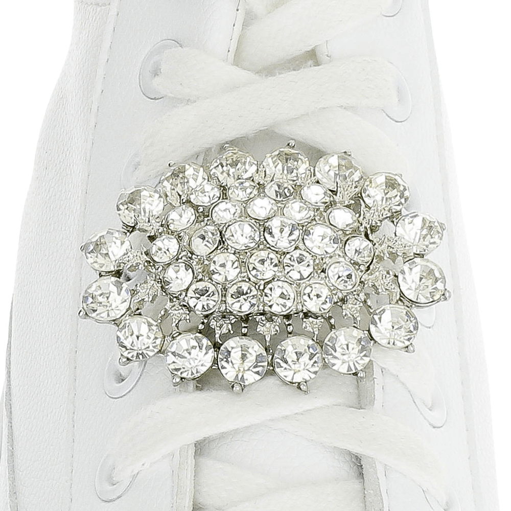 Eye Catching Rhinestone Flower Shoelace Charm