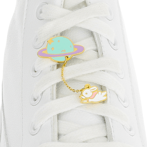 Rabbit X Planet Shoelace Charm