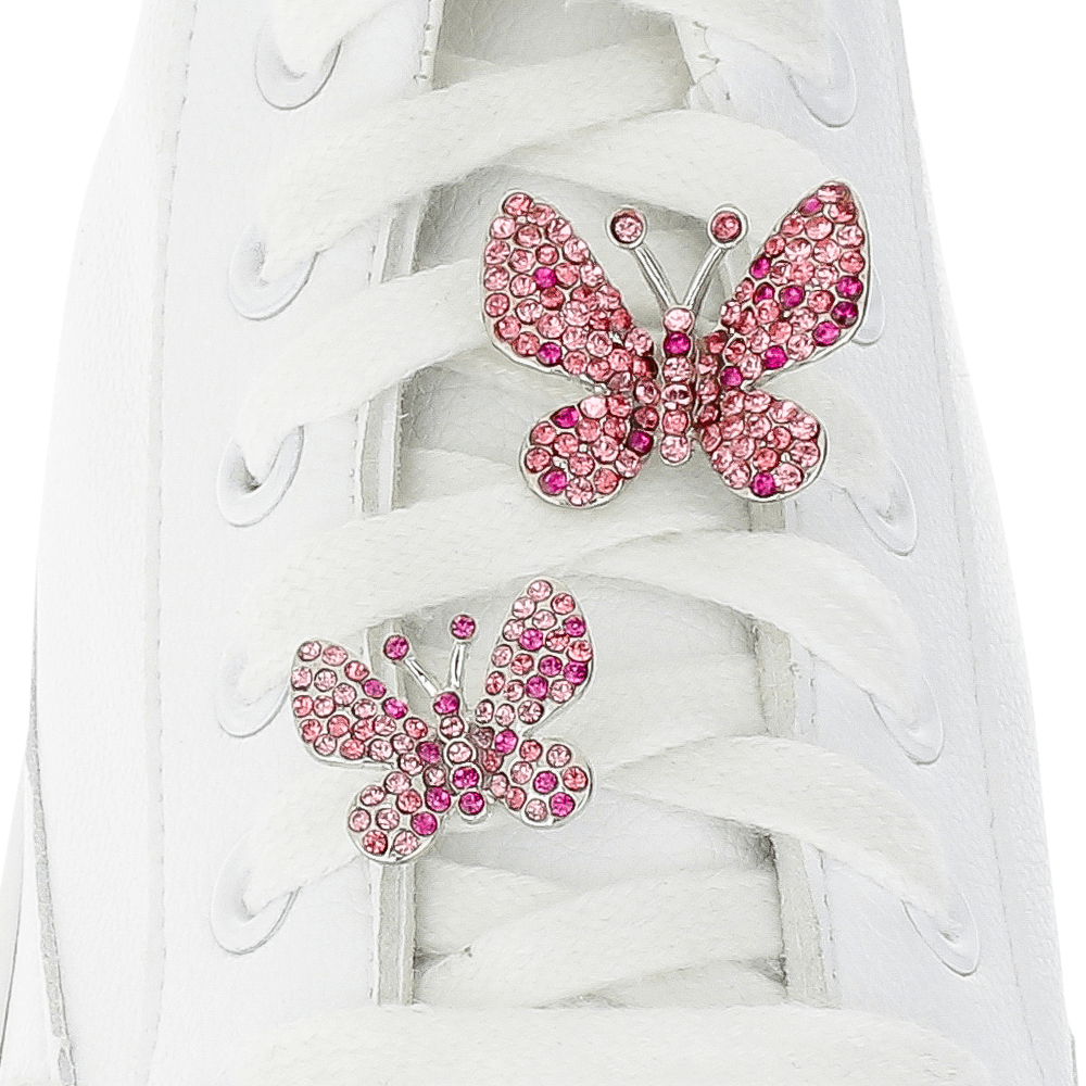 [Box] Pink Butterfly Box Shoelace Charms