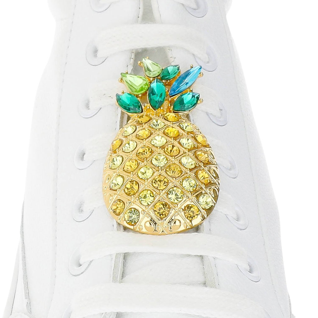 Crystal Pineapple Shoelace Charm
