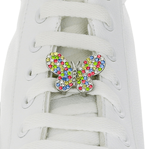 Crystals Butterfly Shoelace Charm