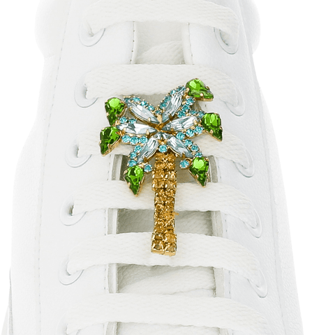 Crystal Palm Tree Shoelace Charm