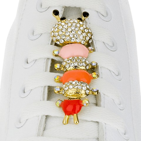 CATERPILLAR PINK shoelace charm