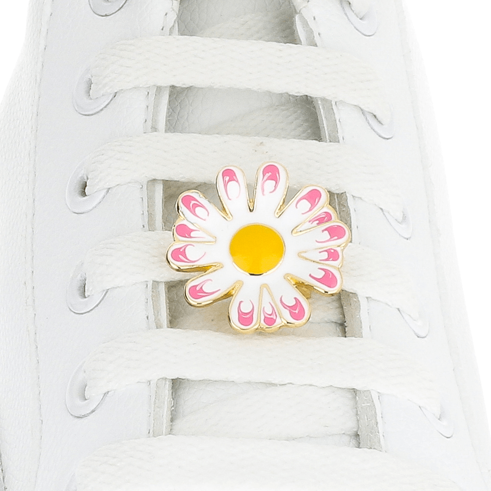 Pink Daisy Flower Shoelace Charm