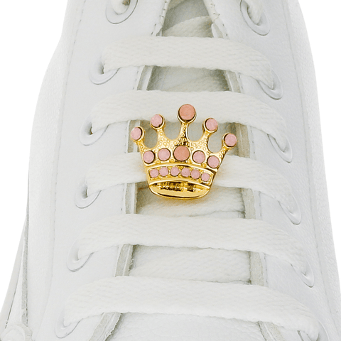 Little Crown Pink Shoelace Charm