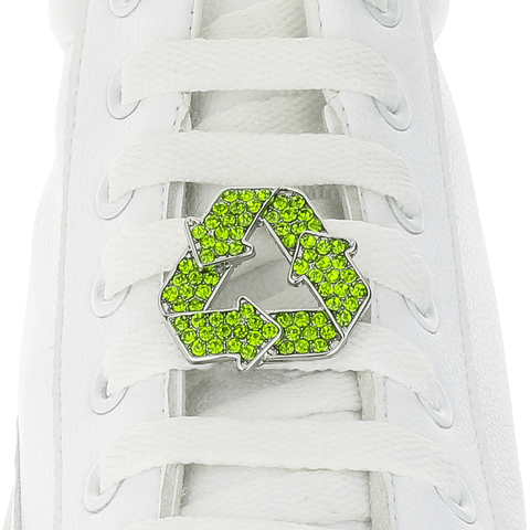Recycle Symbol Shoelace Charm