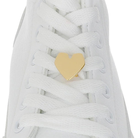 GOLD HEART Shoelace Charm
