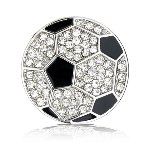 SOCCER BALL with RHINESTONES shoelace charm