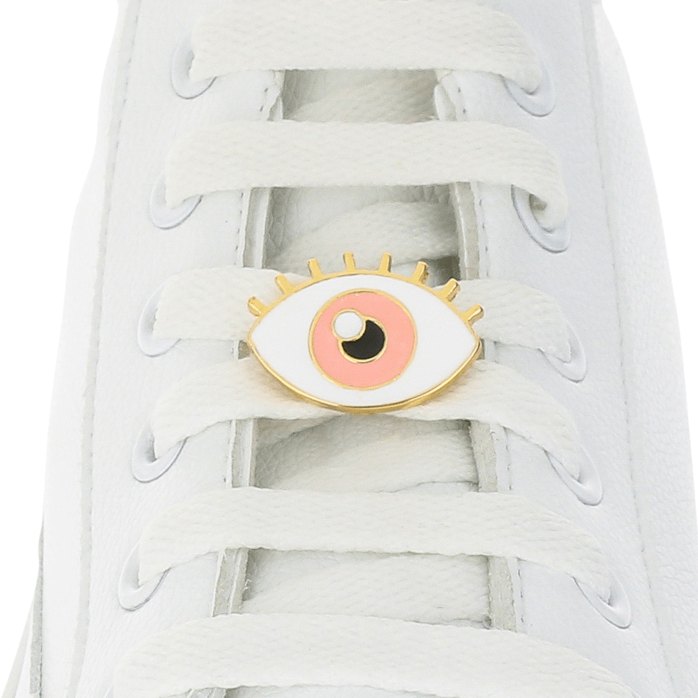 Evil Eye Pink Shoelace Charm