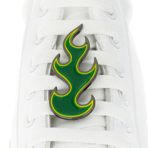 GREEN FLAME shoelace charm