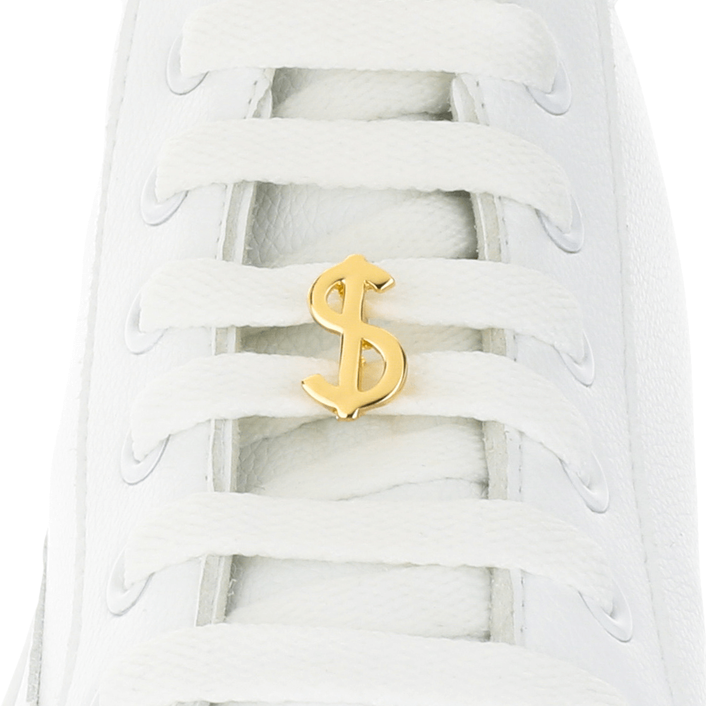 Dollar Gold Shoelace Charm