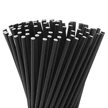 Load image into Gallery viewer, Black Paper Straws Valow Wholesale Biodegradable Drinking Straws