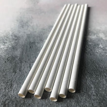 Load image into Gallery viewer, White Paper Straws Valow Wholesale Biodegradable Drinking Straws