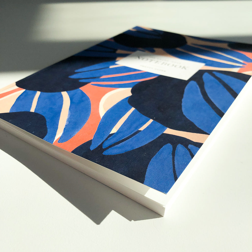 Blue and Coral Notebook