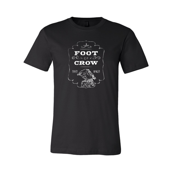 Apothecary Label Foot of Crow Vintage Style Black T-shirt
