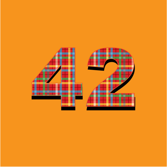 42 Plaid - Hitchhikers Guide to the Galaxy