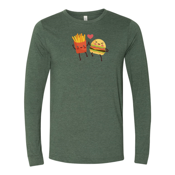 Hamburger and Fries Long Sleeve