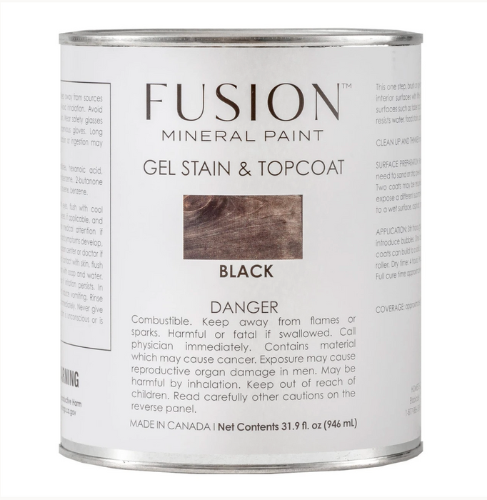 Gel Stain and Topcoat - Black