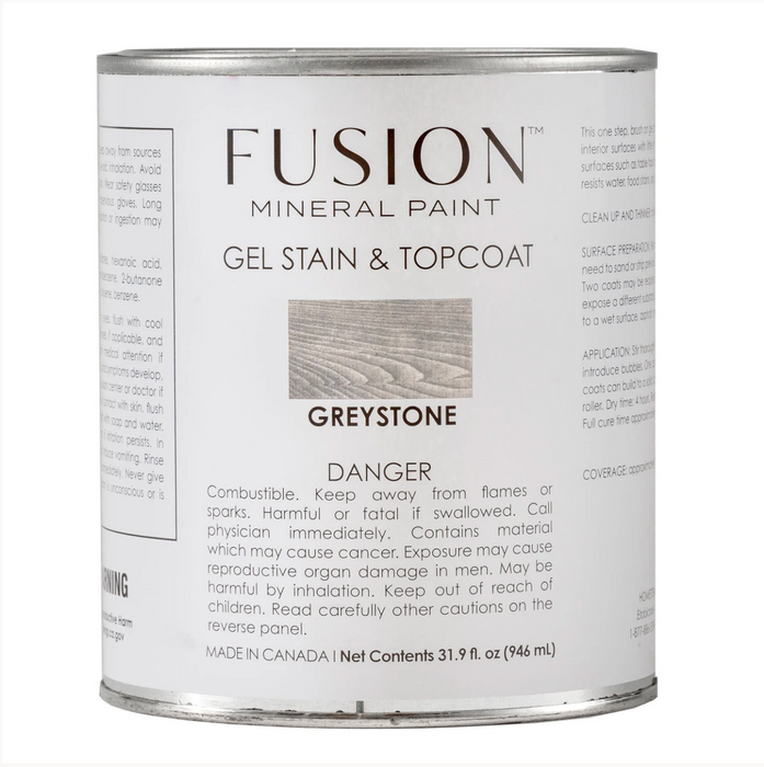 Gel Stain and Top Coat - Greystone
