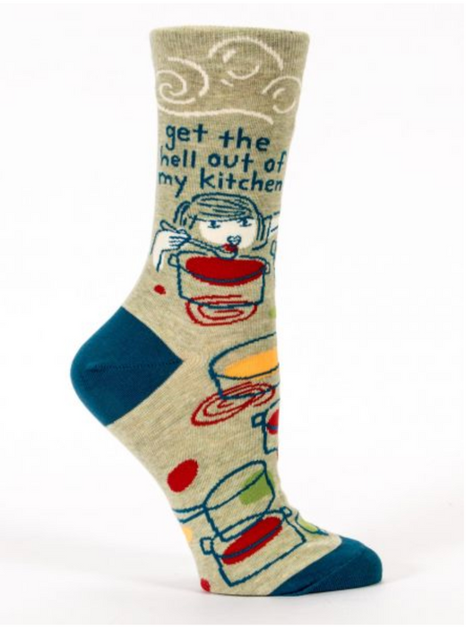 Get The Hell Out Of My Kitchen - Women's Crew Socks