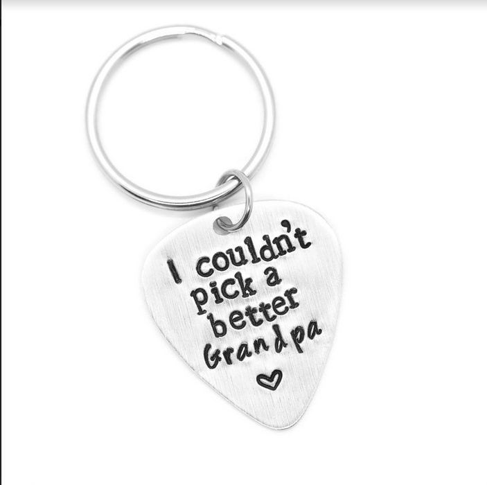'I couldn't pick a better Grandpa' - Wicked Lovely Creations - Keychain - Hand Stamped