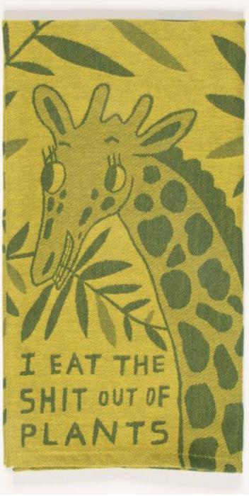 'I eat the S@#t out of plants' - Dish Cloth - Kitchen Stuff