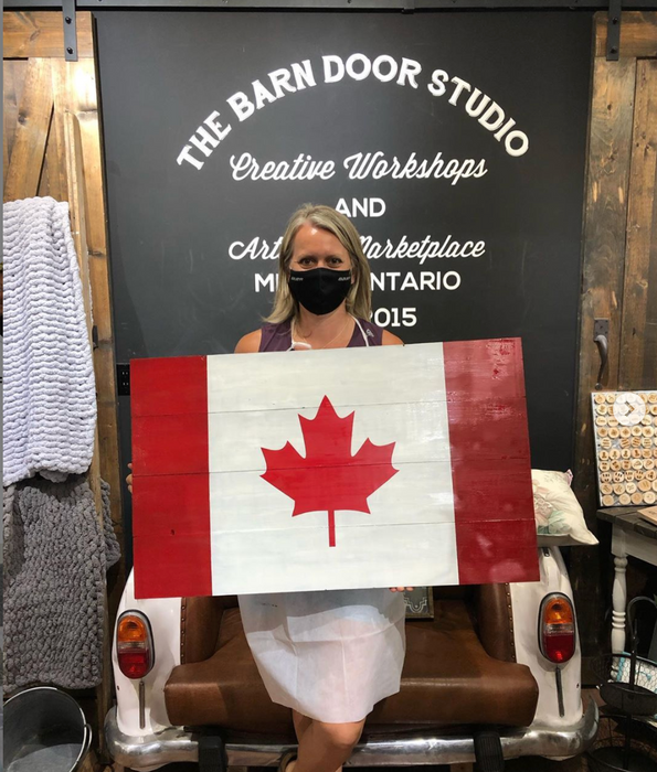 Oh Canadian! Rustic Canadian Flag