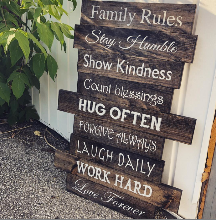 Rustic Slatted Sign