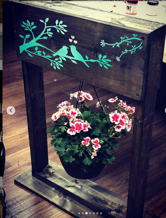 Double sided outside plant stand