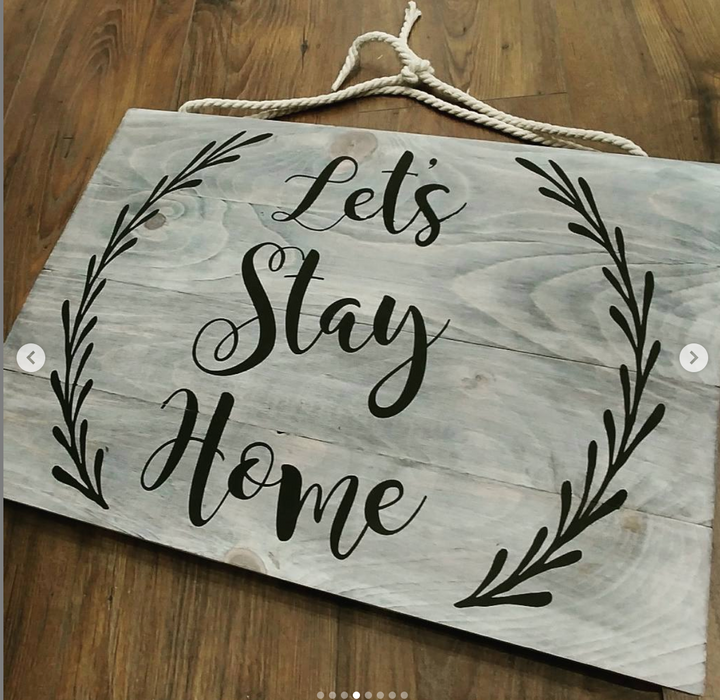Rustic Farmhouse Slatted Sign