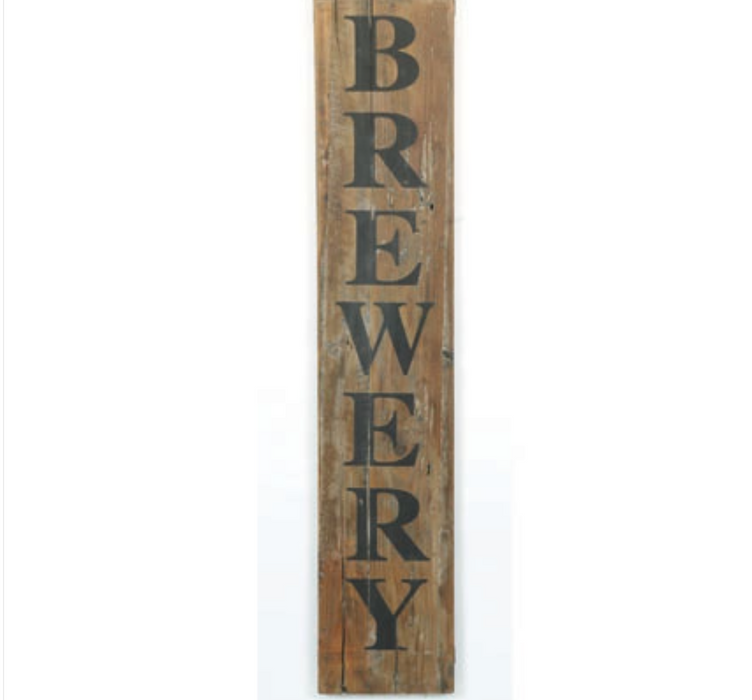 RUSTIC WOOD BREWERY SIGN